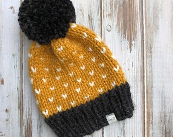 Adult Tiny Hearts Beanie