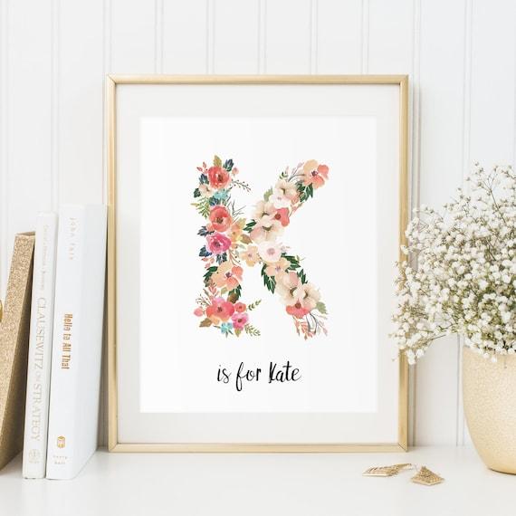 letter k download floral monogram letter baby girl monogram