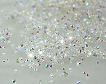 Crystal AB Swarovski Pixie Dust crystals mini zircon rhinestone 3D Nail art - 1000 piece