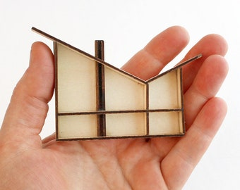 The Butterfly, a Modern MINI Dollhouse - 1:144 scale