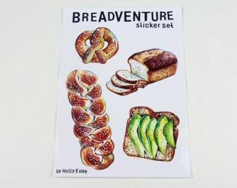 Breadventure Sticker Sheet