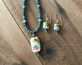 Silver and Aqua Necklace