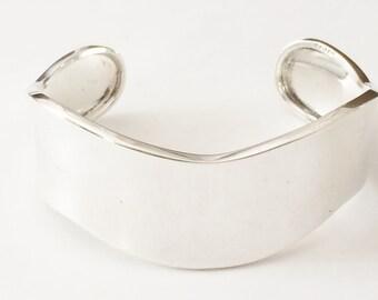 "Sterling Silver Wavy Cuff Bracelet 6 3/4"" For A Smaller Wrist (23.8 grams)"