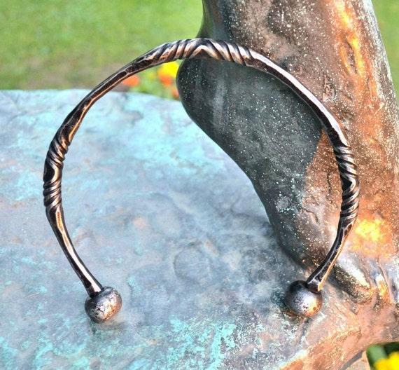 Préférence Torque celtique couples de fer martelé bijoux bijoux Celtes FV66