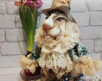 "White Rabbit  from ""Alice's Adventures in Wonderland"" - Art Bunny - Rabbit Art"