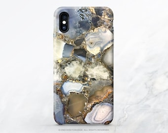 iPhone X Case iPhone 8 Case iPhone 7 Case Agate Crystal Print iPhone 7 Plus iPhone 6 Case iPhone SE Case Galaxy S7 Case Galaxy S8 Case T5