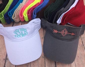 Monogram visor, monogram hat, embroidered, visor, monogram, hat, monogrammed visor, personalized, hat, visor, personalized visor, bridesmaid
