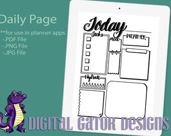 Digital Today Daily Paper for Digital Planners