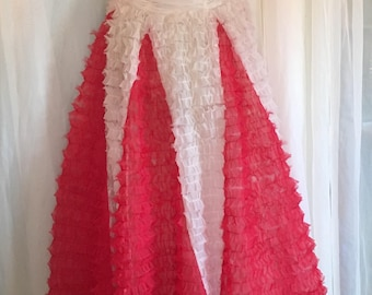 Vintage Prom Party Dress 1950s with Matching Wrap