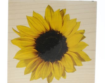 Inkadinkado Sunflower Petals Garden Bloom Wooden Rubber Stamp