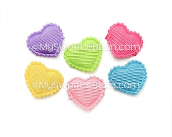 Baby Hair Clips, Satin Heart Hair Clips, Baby Barrettes No Slip Baby Snap Clips Newborn Baby Toddlers Fuchsia Pink, Apple Yellow Blue Purple