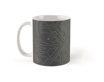 Viking Art Grey Coffee Cup
