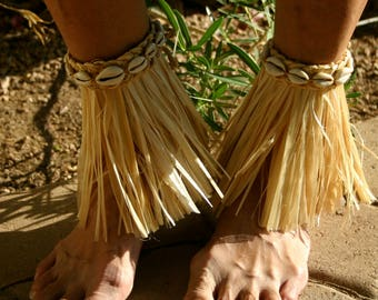 Cowrie Anklets For A Moana ~ Leafy Greens For A Maui ~ Choose Handmade or DIY