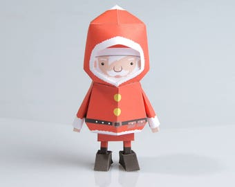 015_Santa [ Boogiehood Paper Toy Template files]