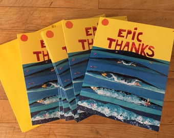 Epic Thanks Surf Boxed Thank You Cards