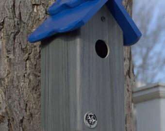 Bluebird house, PVC Cedar Bird house,contemporary,fully functional virtually maintenance free post mount hanging birdhouse new design unique