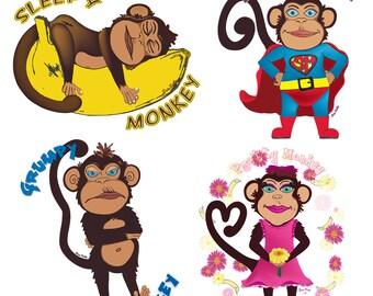 Monkey Character Printables