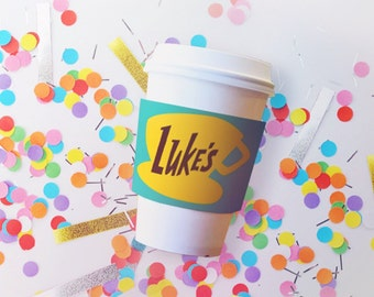 Luke's Coffee Cup Wrap  // Gilmore Girls Viewing Party // Downloadable + Printable