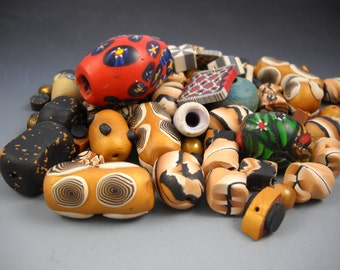 A Whole Pile of Assorted Sizes and Colors Polymer Clay Beads