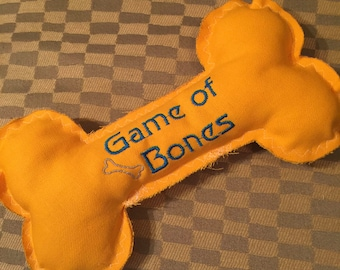 Bone Shaped Dog Toy with Squeaker, Game of Bones