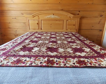 Floral Fantasy Twin/Wallhanging/Lap Quilt -FREE SHIPPING!!!