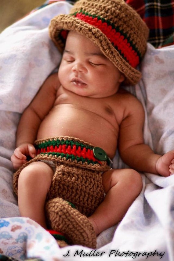 Gucci inspired crochet outfits/photo prop/bucket hat/ newborn/ baby shower