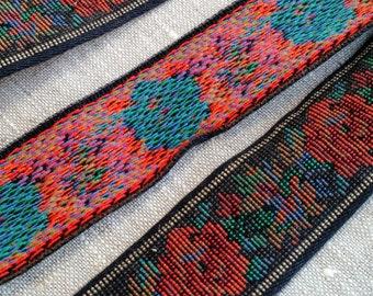 Tapestry Style Vintage Trim, Floral Trim, Upholstery Trim, Sewing Trim, Vintage Ribbon, Vintage Tapestry Trim