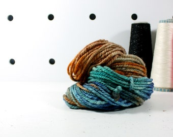 monsoon   ... handspun yarn set, weaving creative yarn, hand spun, hand dyed yarn, handspun art yarn