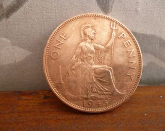 1945 One Penny coin