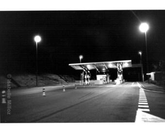 Toll highway at night fine art format 18 x 24 cm