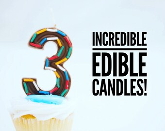 Candie Candles Edible Chocolate Birthday Candle Kit