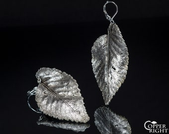 Woodland wedding silver plated leaf earrings boho Fantasy elven jewelry LOTR botanical Statement long earrings Hypoallergenic Bridal jewelry