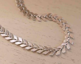 Silver Chevron Necklace - Silver Arrow Necklace - Silver Chain Necklace - Minimal Silver Necklace - Simple Silver Necklace - Dainty