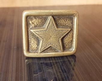 Vintage military belt buckle, Soviet military belt buckle, Brass buckle for belt, Military buckle, Vintage belt buckle, Belt buckle from 50s