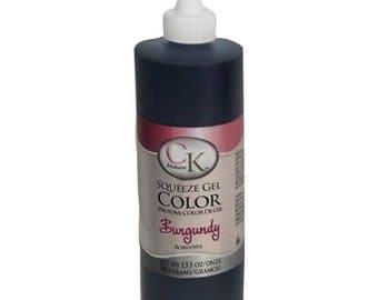 Burgundy Gel Color  13.5 oz