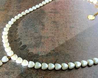 Gilded Hearts pearl necklace romantic, also as set!