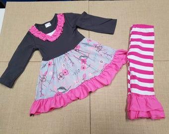 Grey/Pink Floral Set