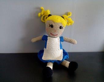 Alice in wonderland amigurumi doll Alice