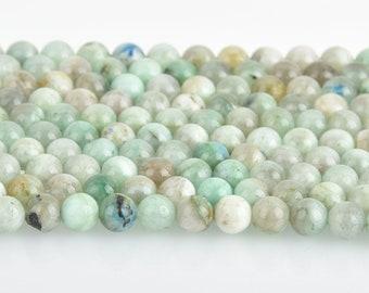 8mm Green CHRYSOCOLLA Gemstone Beads Round Smooth 48 beads gms0078