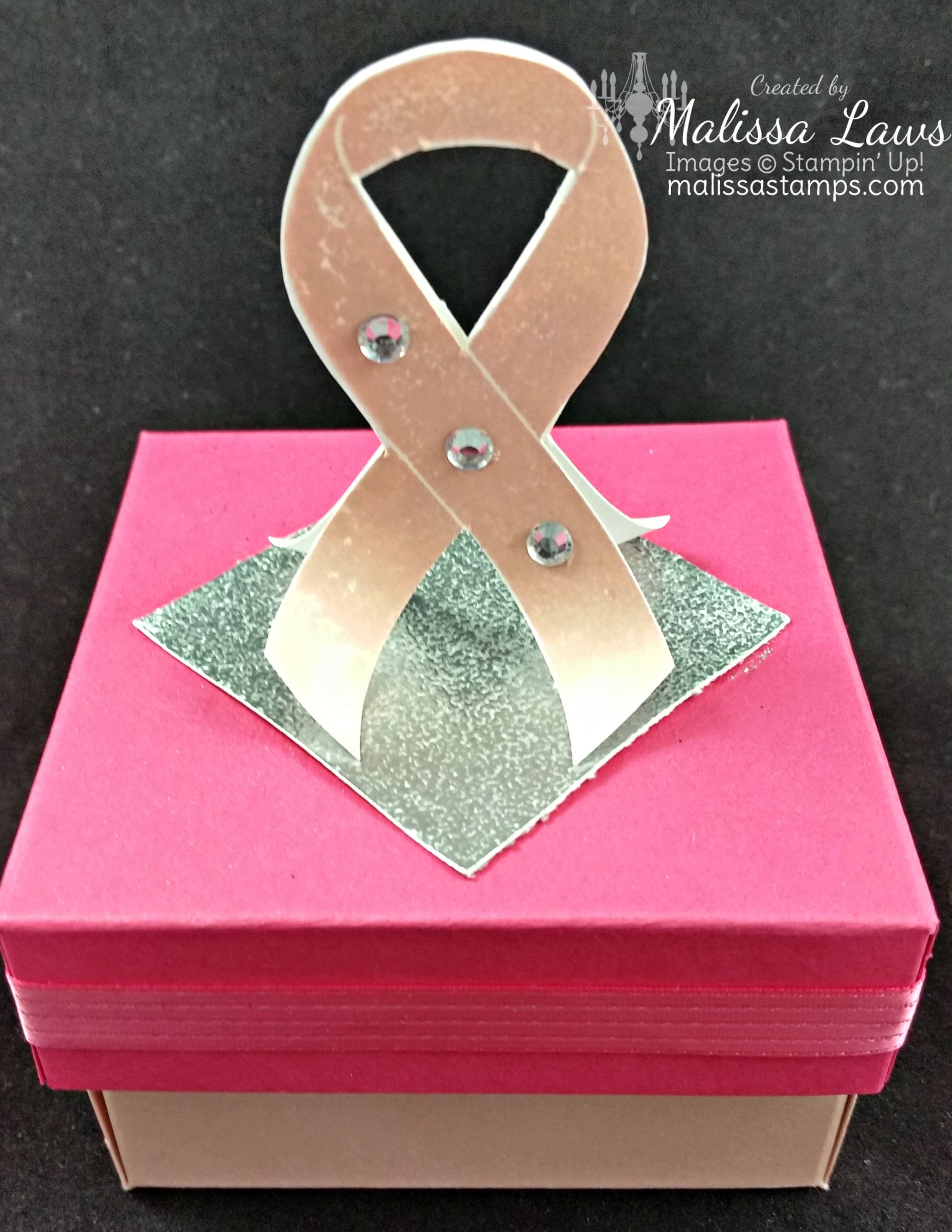 Breast Cancer Box Pink Ribbon Box Breast Cancer Awareness