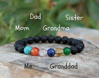 Family Bracelet Birthstone Bracelet Custom Personalized Bracelet Christmas Gift Ideas under 25 Birthstone Father Gift Beaded Bracelet