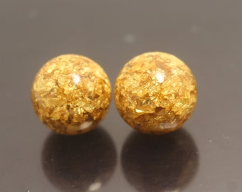 18mm  Gold Foil Beads,20pcs