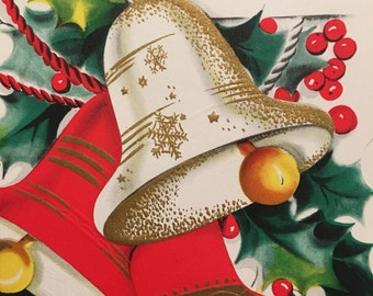 Vintage Christmas Card, Military, Service,NOS, Unused Card, Mid Century
