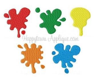 Paint Splatters Machine Embroidery Design