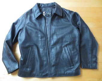 Eddie Bauer Legend Women's Motorcycle Leather Jacket, Size M, Brownish-Black, Ready for Fall!