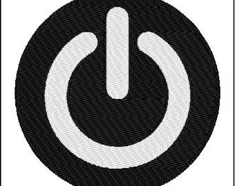 Power Button Embroidery Design