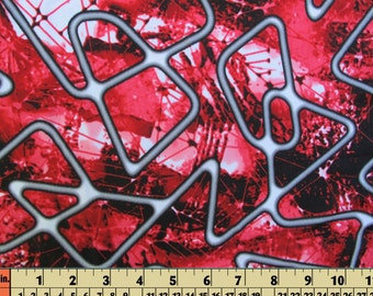 spandex material lycra fabric - abstract design 1/2 Yard - 18  X 5 inches - 4 way stretch - great for swimwear