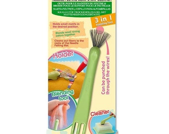 Clover 3-in-1 Needle Felting Claw & Mat Cleaner - Ship from USA