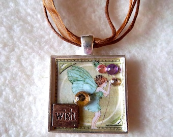 Wish Collage Pendant Necklace No.23