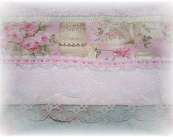CHIC Light PINK Teapot ROSES Decorative Guest Hand Towel